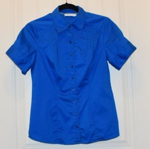 Ricki's Ladies Short Sleeve Fitted Button Shirt